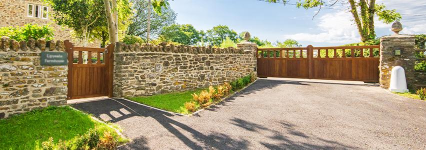Mendip driveway and garden gates