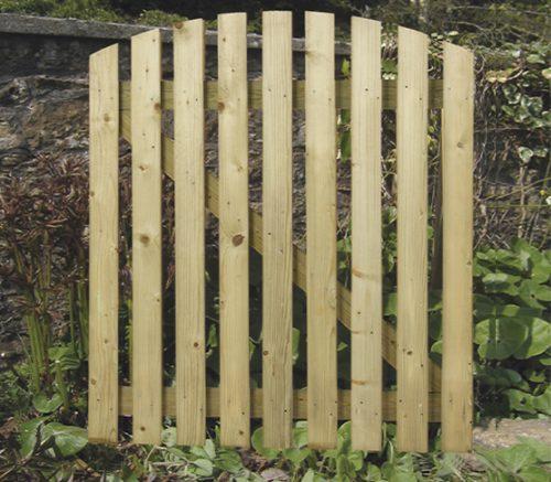 Curved Wicket Garden gategate