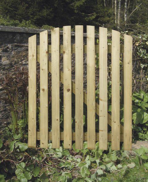 curved wicket garden gate