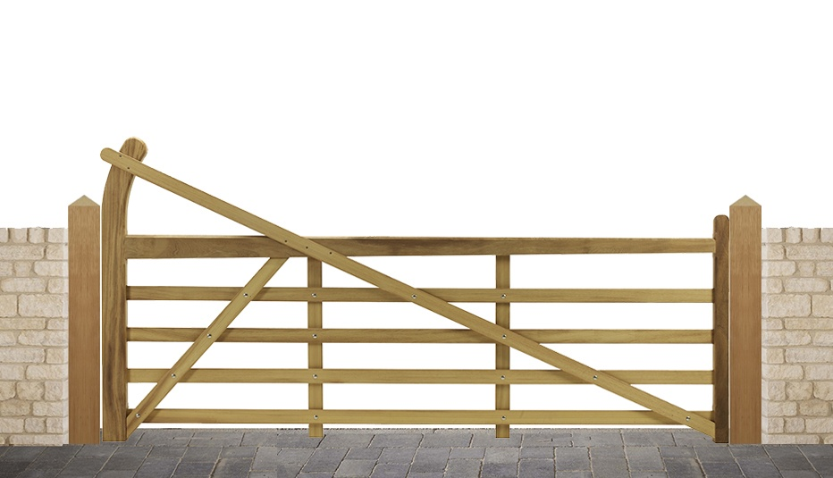 Estate 5 bar gate