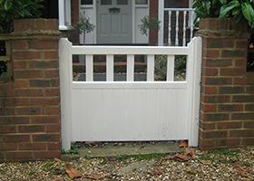 Hampton gate painted white