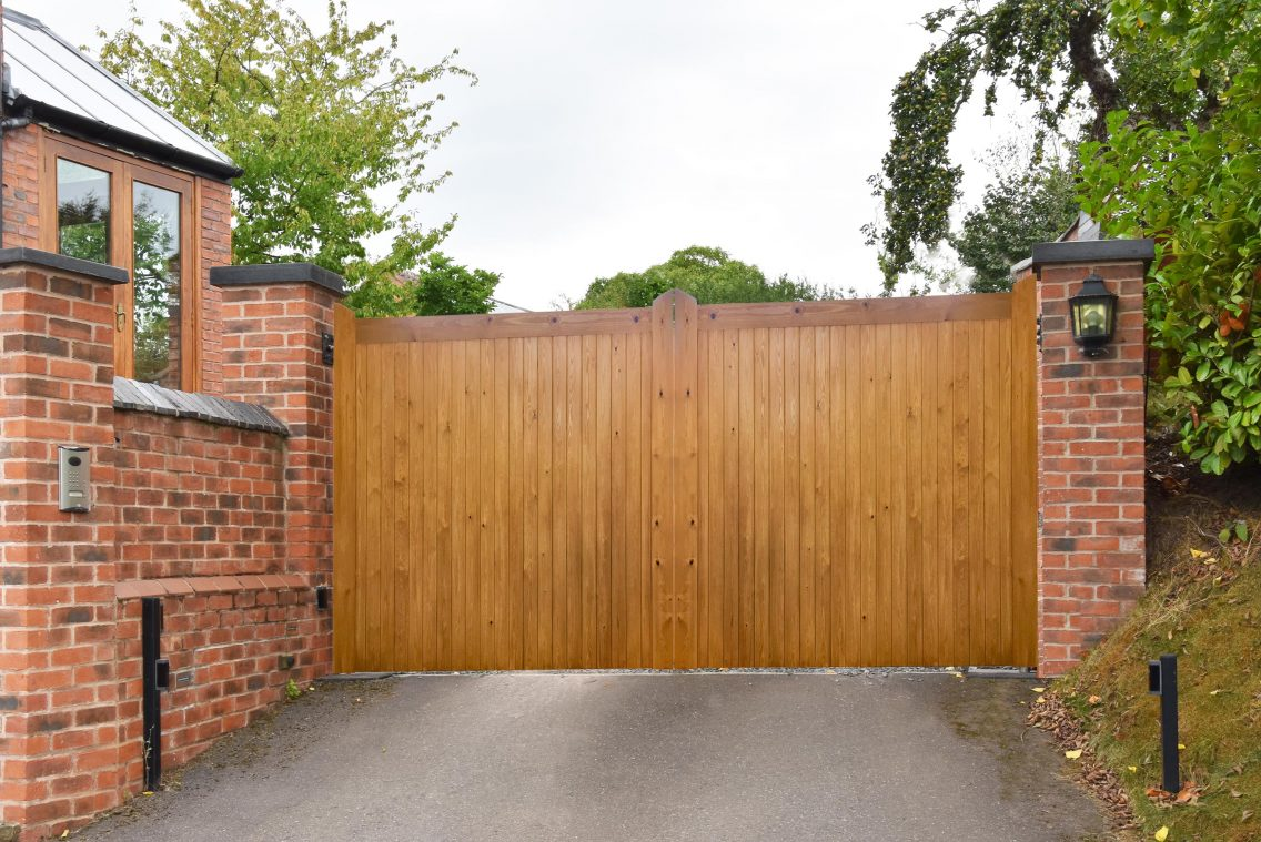 Manor pair of gates treated with modern UV Oil