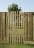Orchard wooden slatted side gate