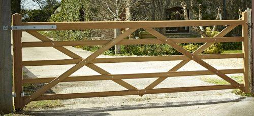 Somerset Iroko Driveway gate