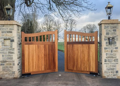 Hardwood Beckington gates