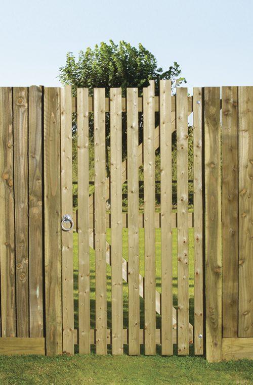 Orchard Flat wooden slatted side gate