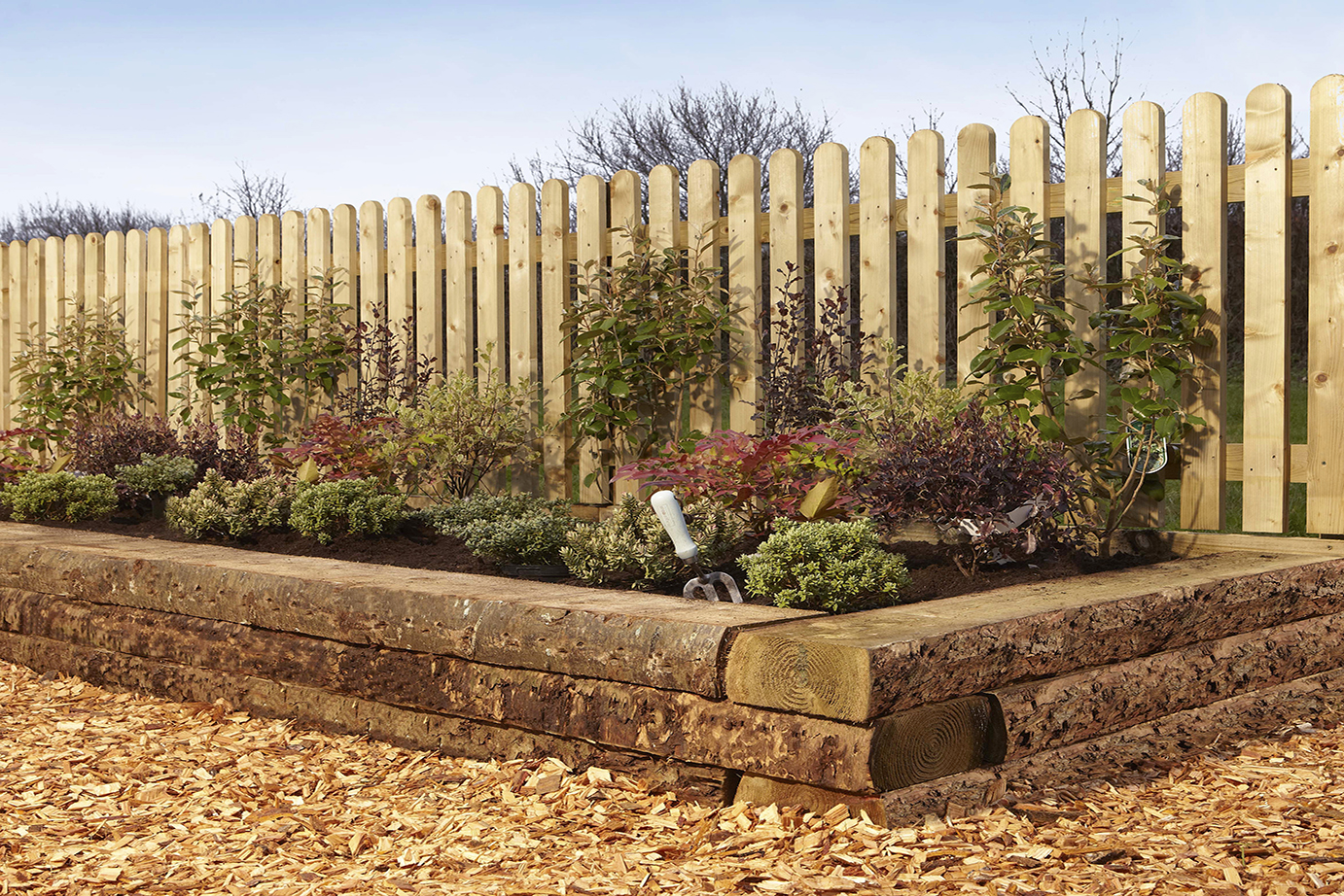 Rustic Timber Sleepers Charltons Gates And Fencing