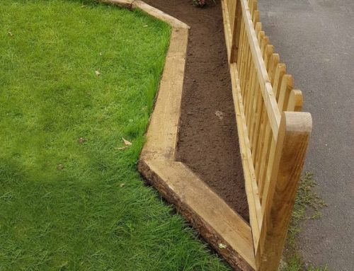 Rustic Sleepers  – For a quick and easy garden border
