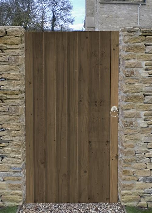 Babington Brown feather edge side gate