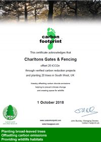 Carbon Footprint certificate