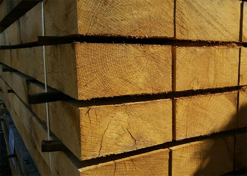 Oak timber sleeers