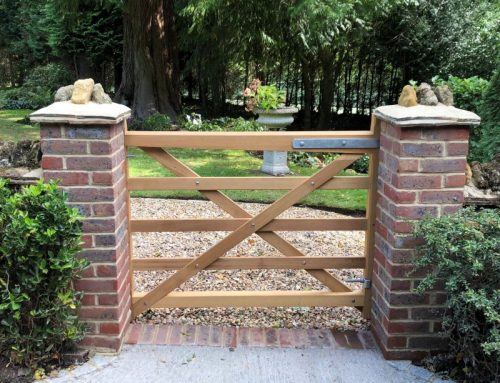 Need a garden gate with an open feel?