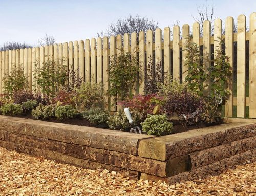 Landscaping with Rustic Sleepers