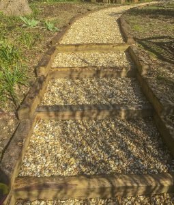 Rustic Sleeper steps