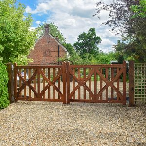 Jubilee driveway gate adds privacy and security