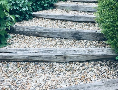 Wooden Sleepers; naturally weathered