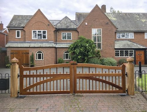 Installation of new Farleigh Hardwood Driveway Gate