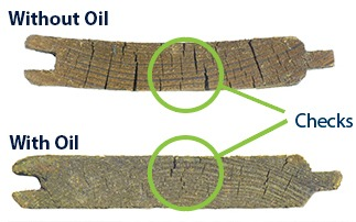 Effects of wood with and without UV Oil