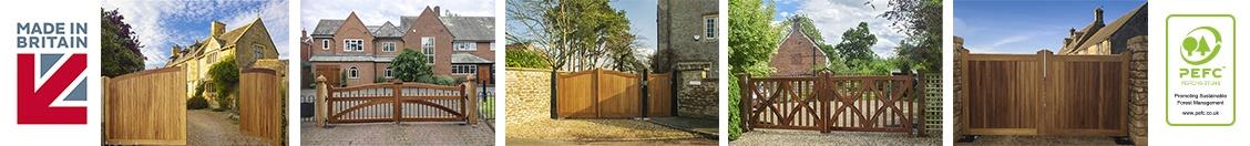 Quality wooden driveway gates