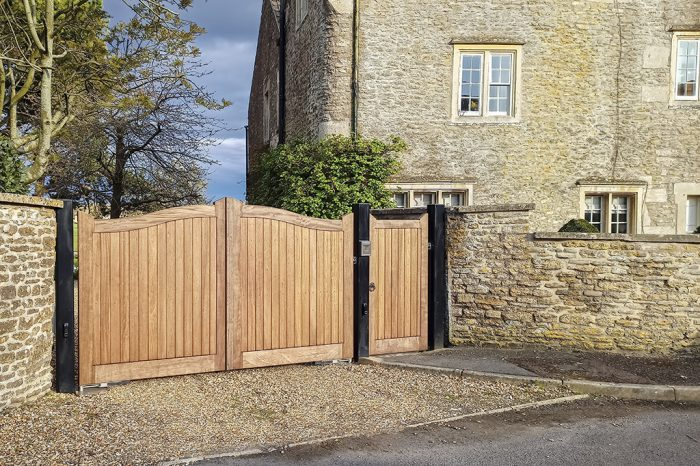 newly installed gate