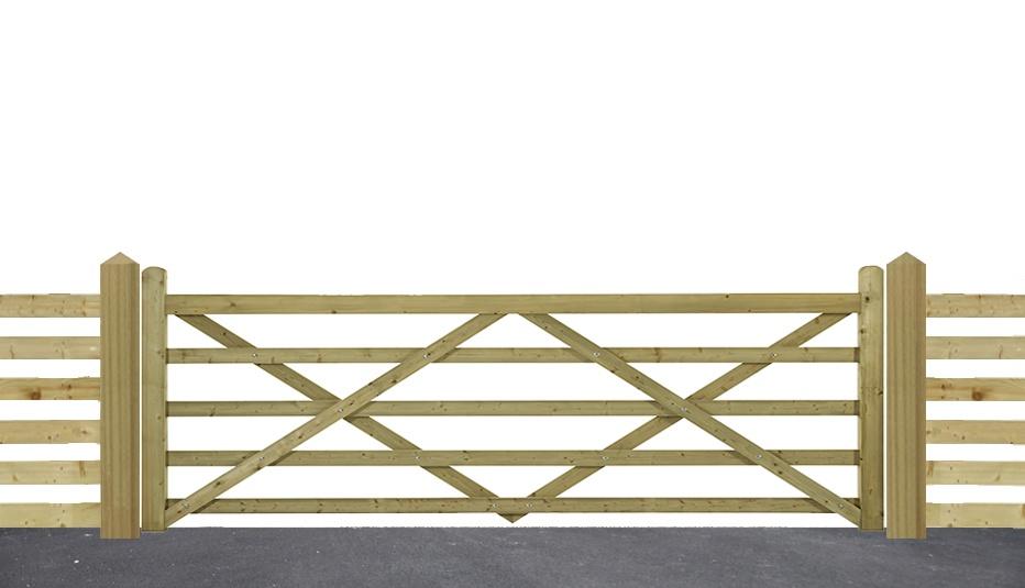 Highgrove 5 bar gate
