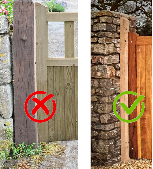 Caring for your Wooden Gates in Winter - keep posts clear